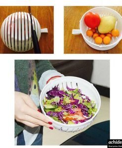 Salad Maker Cutter Bowl