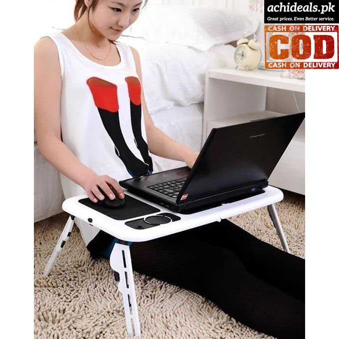 E-Table Laptop Table with Cooling Pad