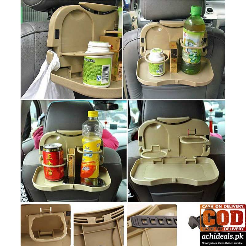 Foldable Car Back Seat Travel Dining Tray